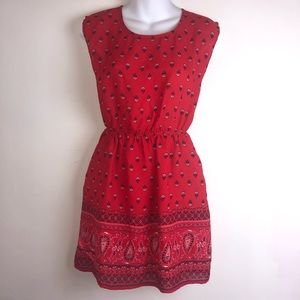 Forever 21 red and blue sundress size small.